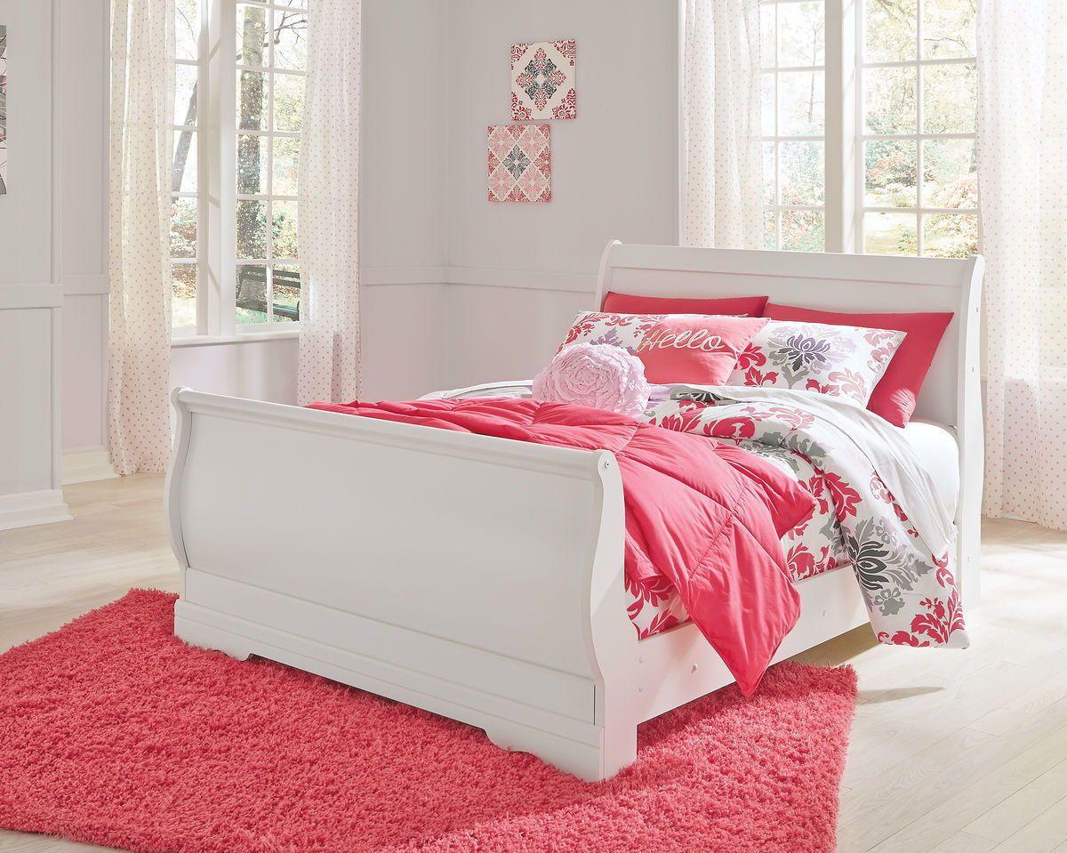 Best Ashley Anarasia White Full Sleigh Bed In 2019 For The 400 x 300