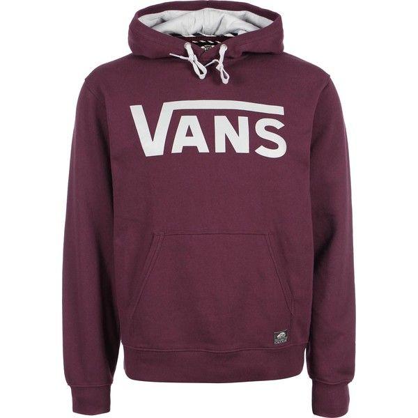 vans vans classic hoodie maroon grey liked on polyvore