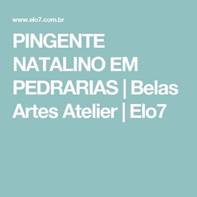 PINGENTE NATALINO EM PEDRARIAS | Belas Artes Atelier | Elo7