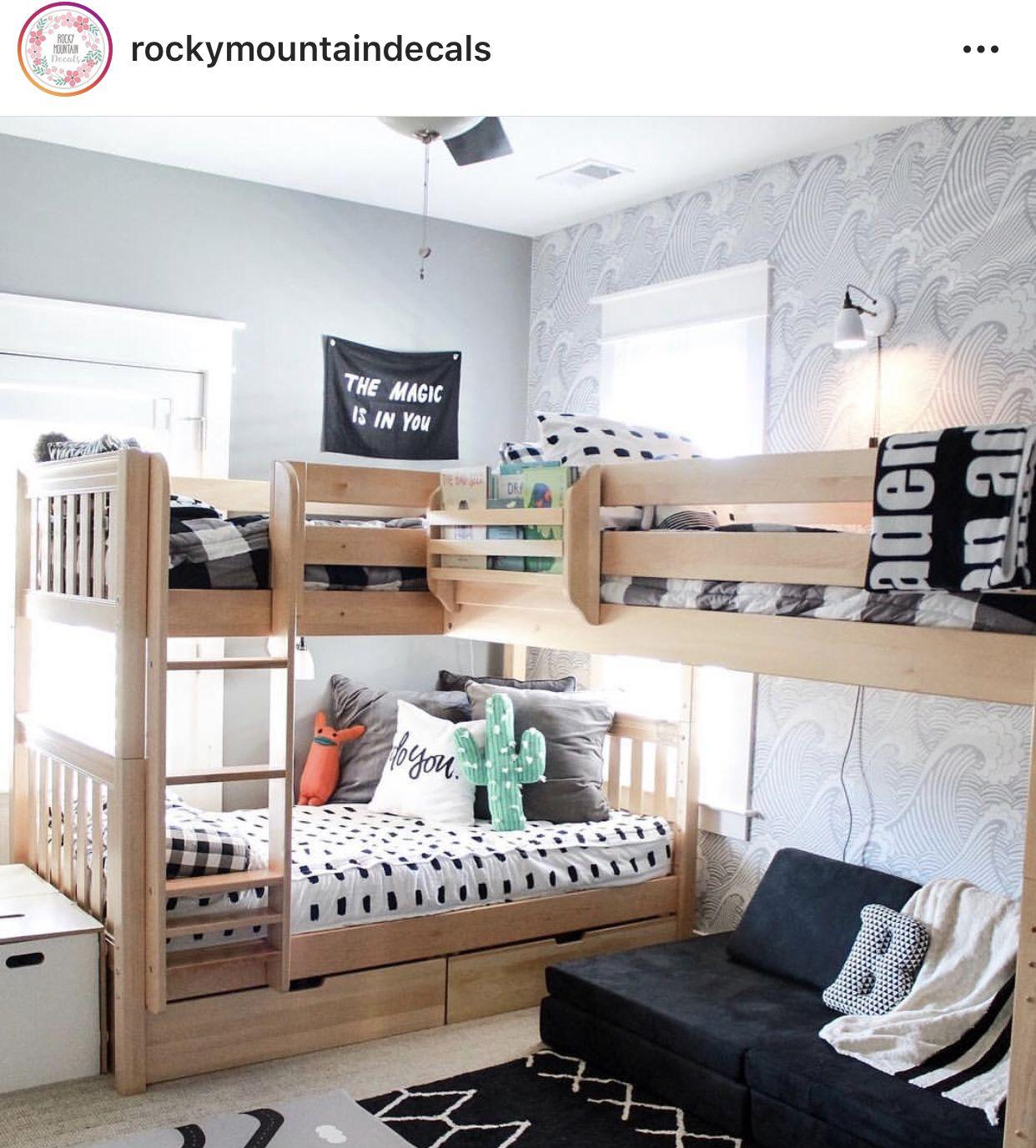 Modèle de lit | Déco chambre chalet, Chambre enfant et ...