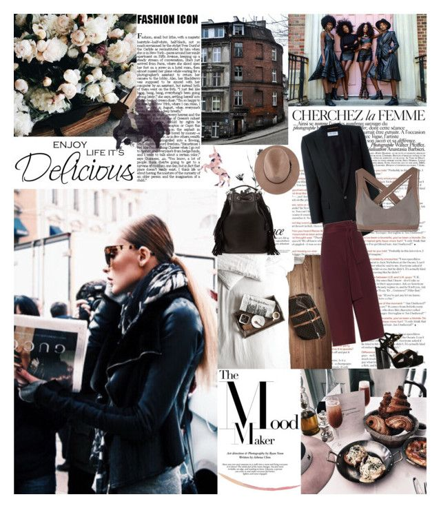 """""""Be happy with what you have and are, be generous with both, and you won't have to hunt for happiness.. by William E. Gladstone"""" by valentina-back ❤ liked on Polyvore featuring Prada, Yves Saint Laurent, La Femme, TIBI and OLYMPIA Activewear"""