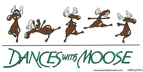 Dances With Moose Sticker