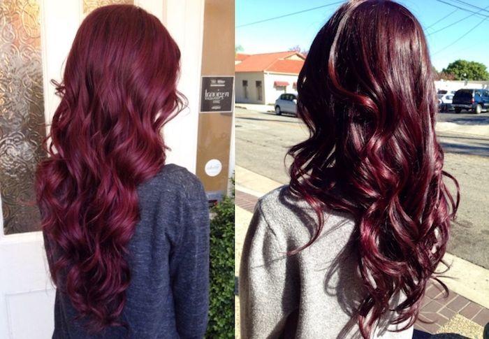Couleur cheveux bleu rouge
