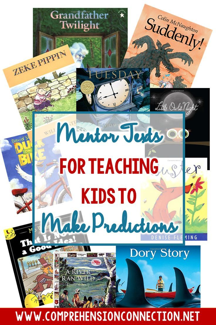 Language At 3 Predicts 3rd Grade >> Mentor Texts For Teaching Kids To Make Predictions Elementary