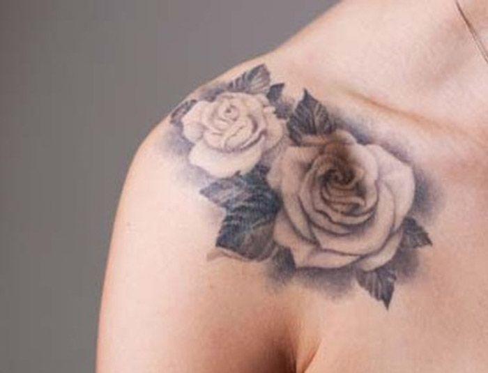 flower-tattoo-on-shoulderfront-shoulder-tattoos-for-women ...