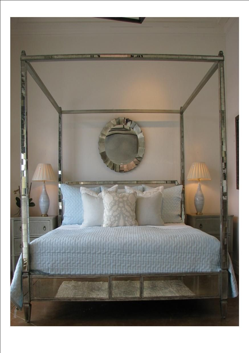 Regency Mirrored Canopy Bed The Company