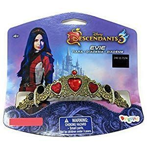 Disney Descendants 3 Evie Tiara Crown Dress Up Halloween Costume Accessory Gold  Disney Descendants 3 Evie Tiara Crown Dress Up Halloween Costume Accessory Gold