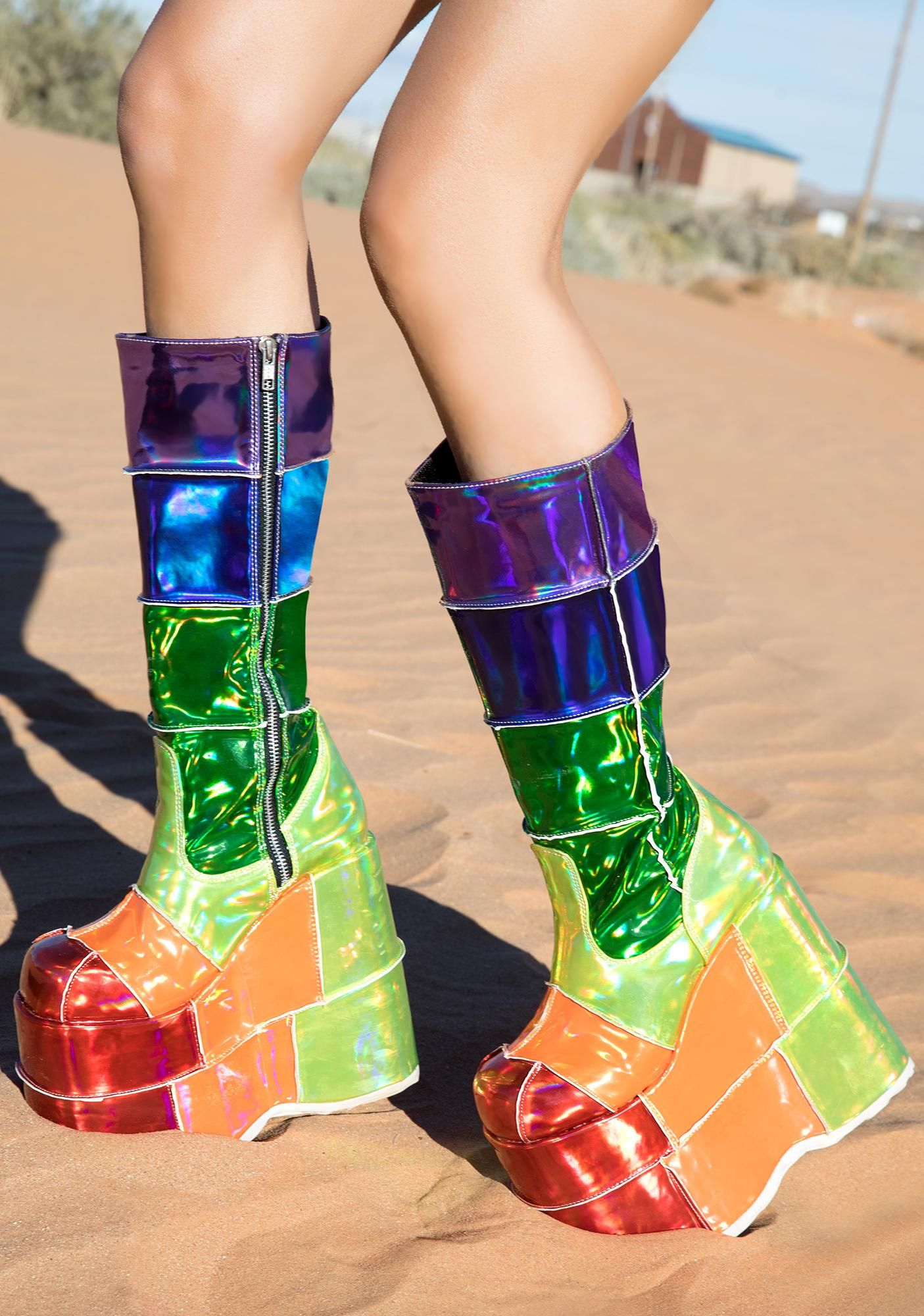 3f63ce9c715 Way Up High Rainbow Stack Platforms in 2019 | Fairy Tales shoes ...
