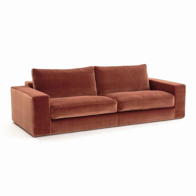 canap fixe skander velours room. Black Bedroom Furniture Sets. Home Design Ideas