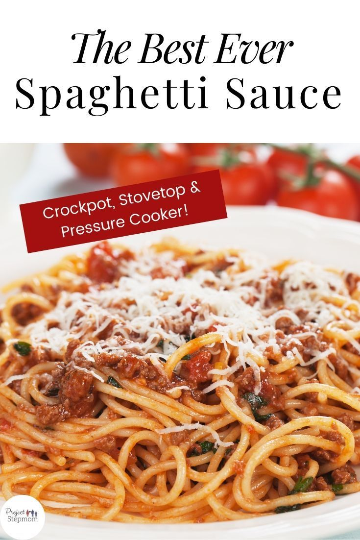 this spaghetti sauce recipe is a family favorite and has