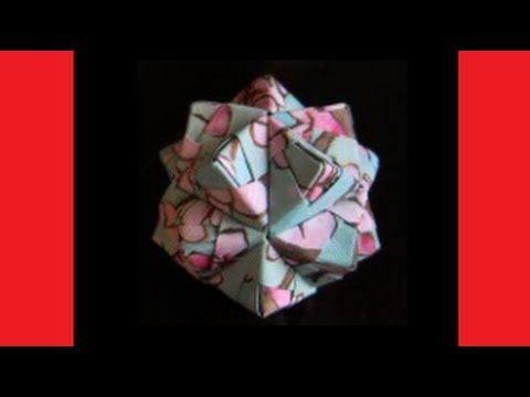 DIY  Christmas Ornament  Origami Ball  Icosahedron Sonobe Unit