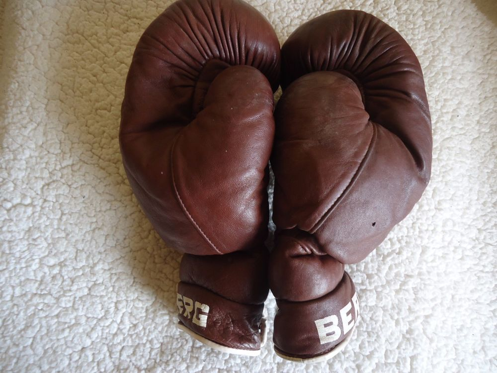 MONTIS Old School Vintage Classic Retro Brown Leather Boxing Gloves