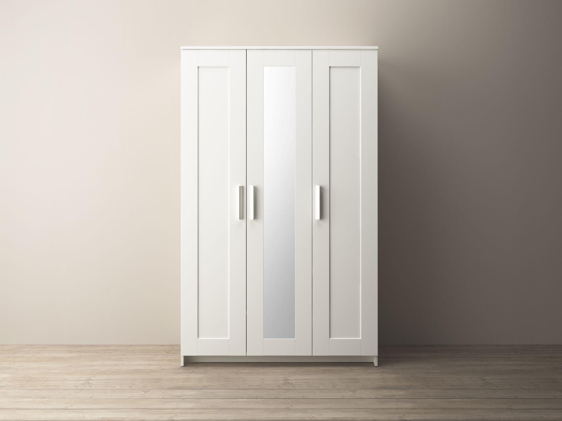 BRIMNES Kledingkast met 3 deuren, wit | Bedrooms, Room decor and ...