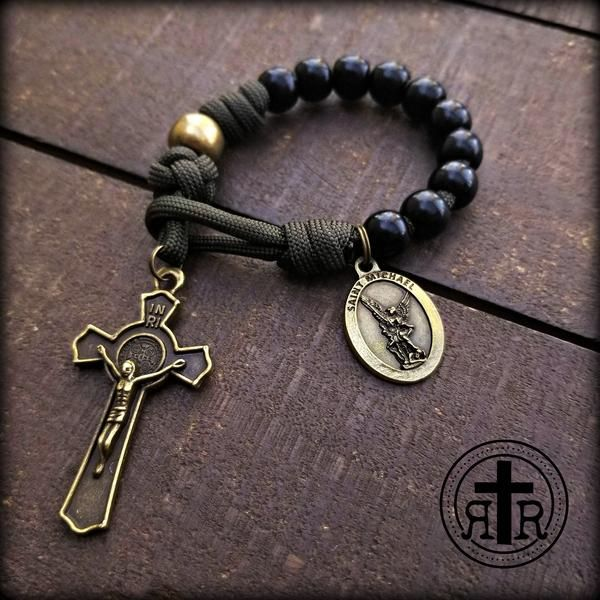 Soldier St. Michael Pocket Rosary #rosaryjewelry