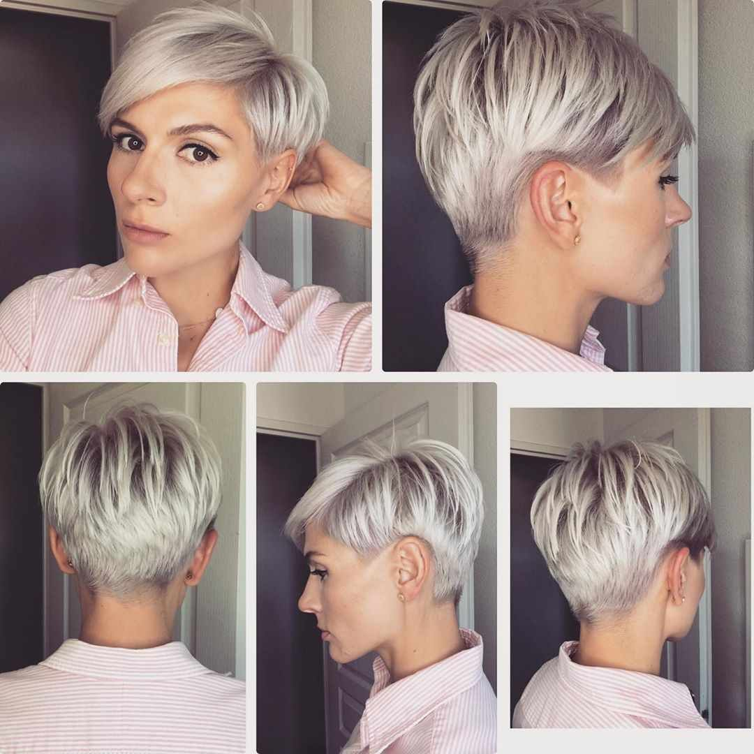 Pixie Haircuts For Thin Hair Pictures And Tips For 2019 2020 Year Short Hair Trends Short Hair Styles Pixie Short Thin Hair