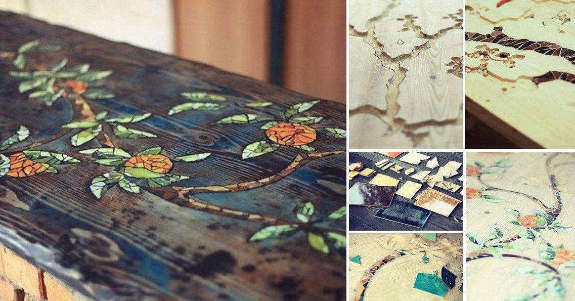 C mo decorar con mosaicos una mesa furniture projects for Como decorar una mesa