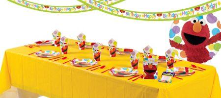 Elmo Party Supplies Party City Elmo Party Supplies Sesame Street Birthday Party Kids Birthday Fun