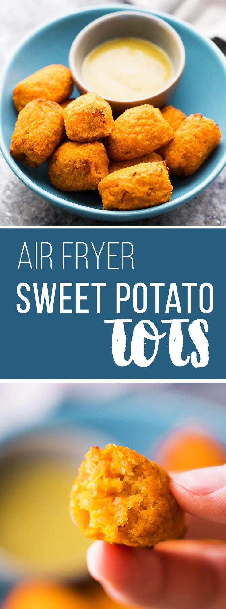 Crispy air fryer sweet potato tots sweetpeasandsaffron