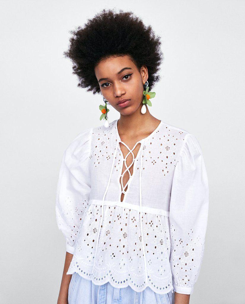c8ee4bf1c88ed Zara Swimsuit With Metallic Hoops | Zara Sale Summer 2018 | POPSUGAR  Fashion Photo 1