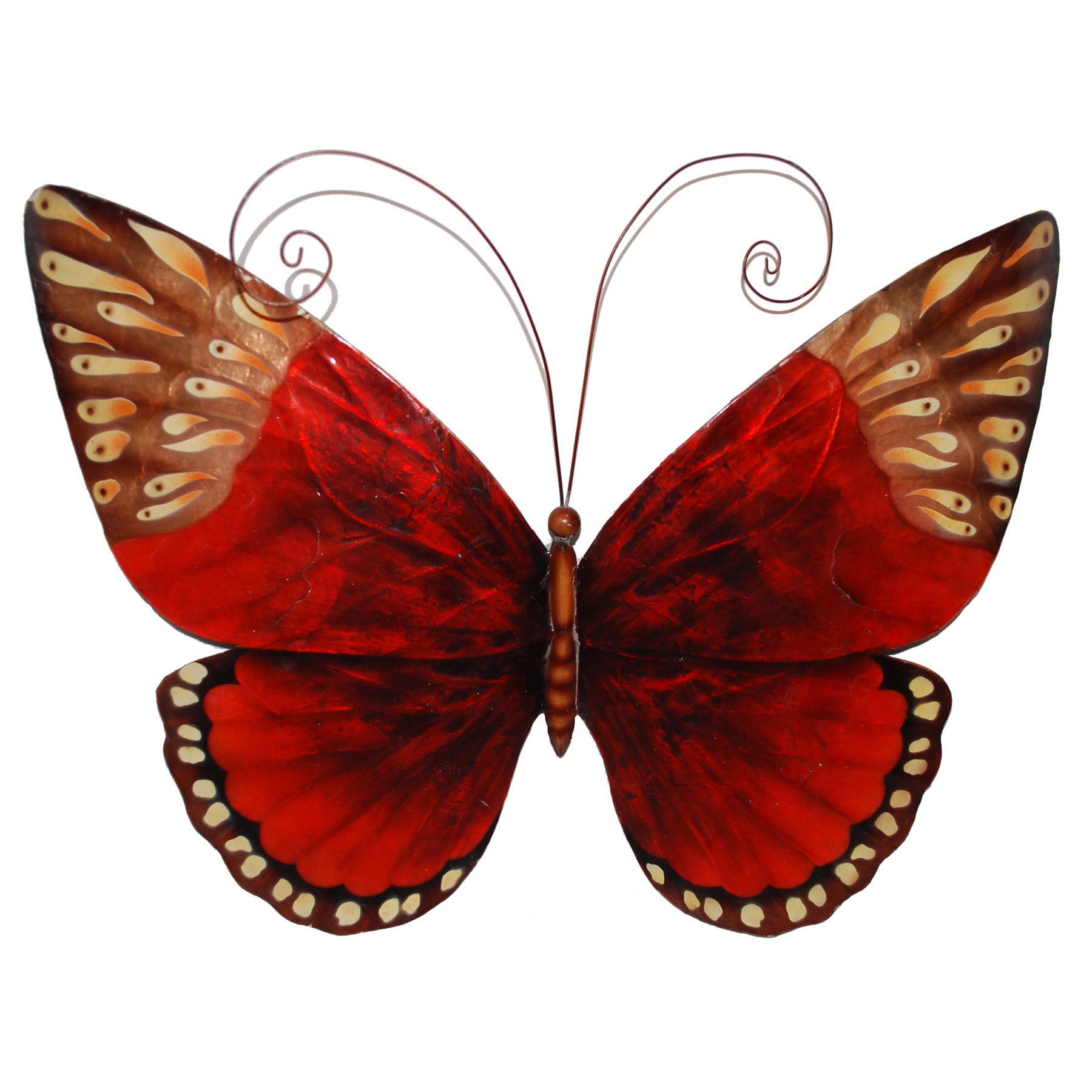 Handcrafted red butterfly wall art philippines overstock