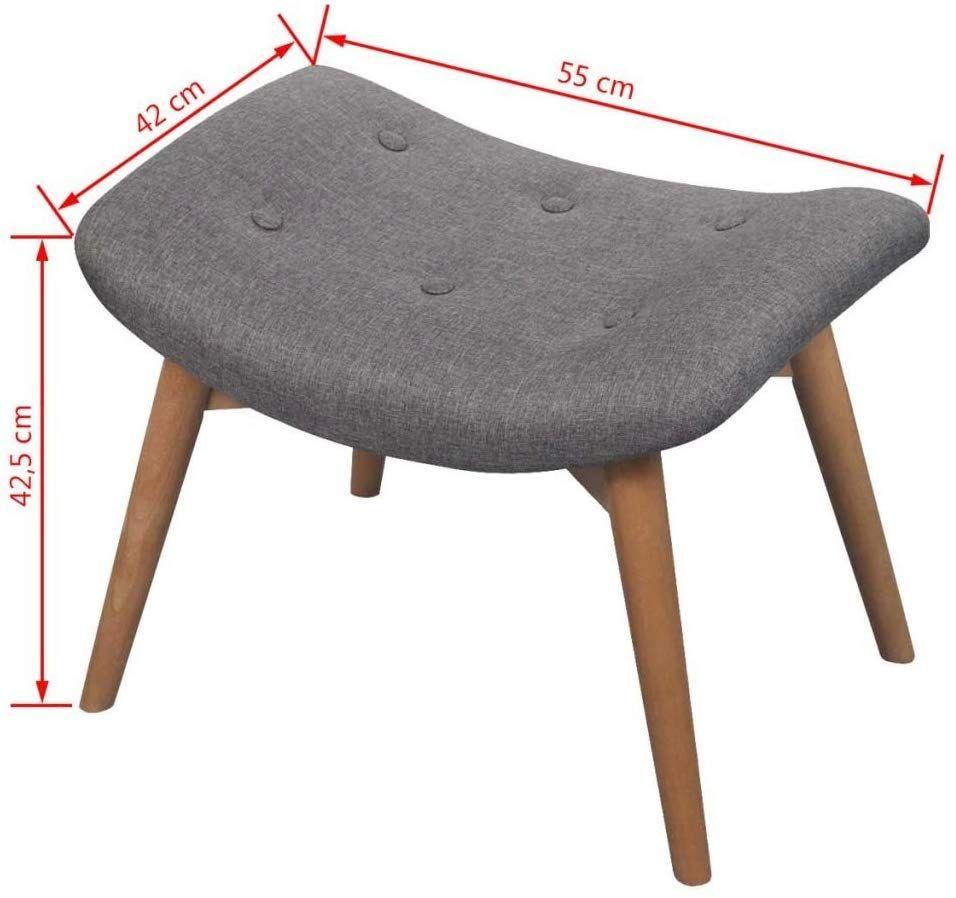 vidaXL Sillón con Taburete Reposapiés Tela Gris Estructura de Madera Acolchado Amazon es Juguetes y juegos is part of Furniture -