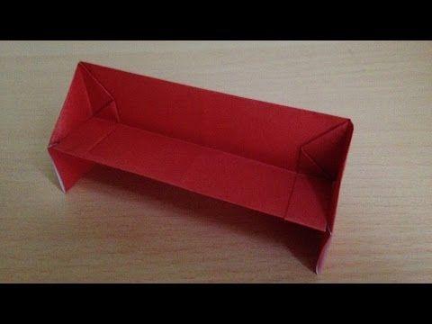 折り紙 ソファー 簡単な折り方 Origami Sofacouchfor Dollhouse