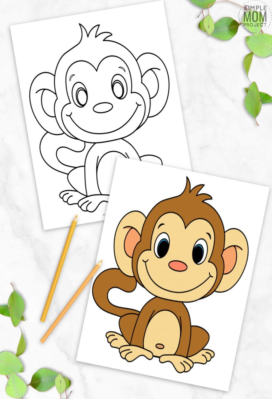 Cute Baby Monkey Coloring Page For Kids Monkey Coloring Page Monkey Coloring Pages Monkey Coloring Pages For Kids