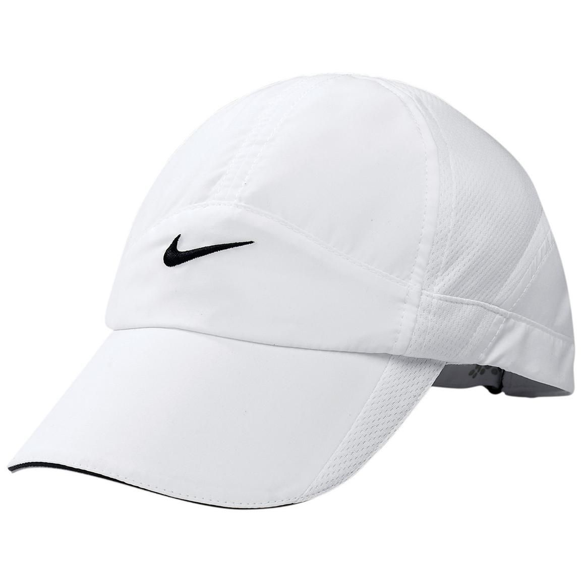 43721d9e554e8 Nike Hats for Women | Women's Nike® Feather Light Cap White | Hats ...