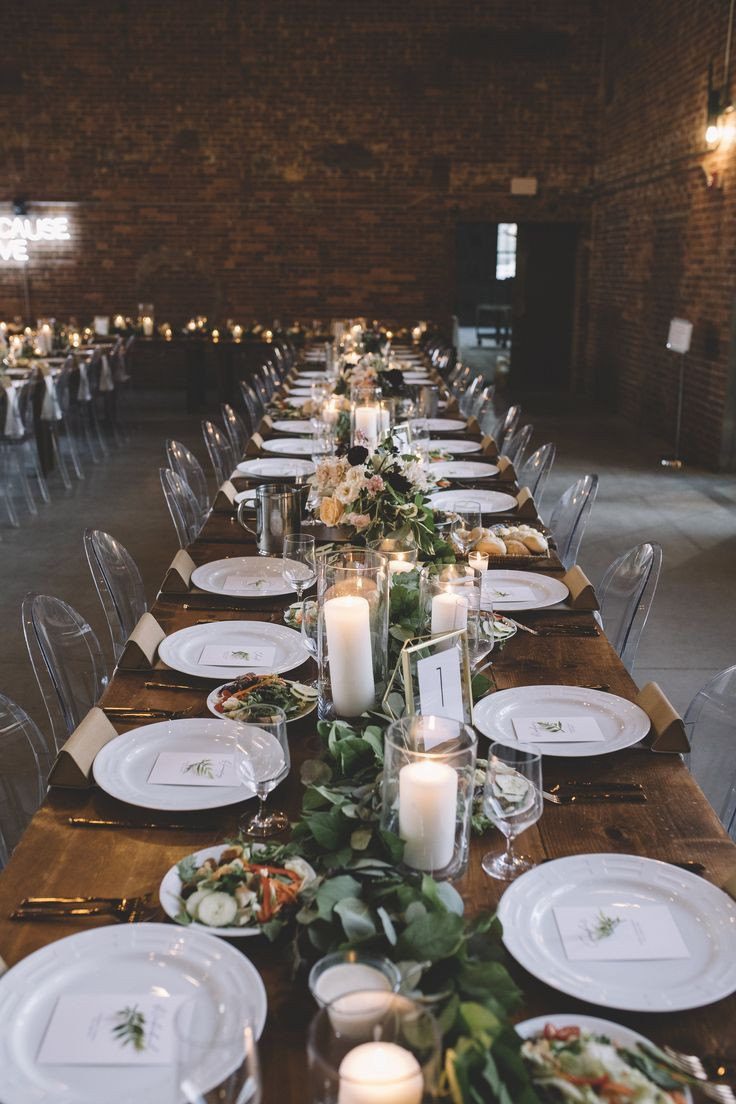 Wedding decor with ghost chairs  Modern Table Design  Ghost Chairs  Modern Wedding Ideas