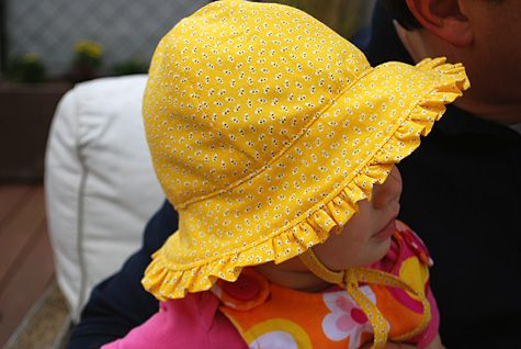 d7e86c3bb2d Baby sunhat hat with ruffles and ties free sewing pattern and DIY tutorial...although  I will have to make it ruffle-less