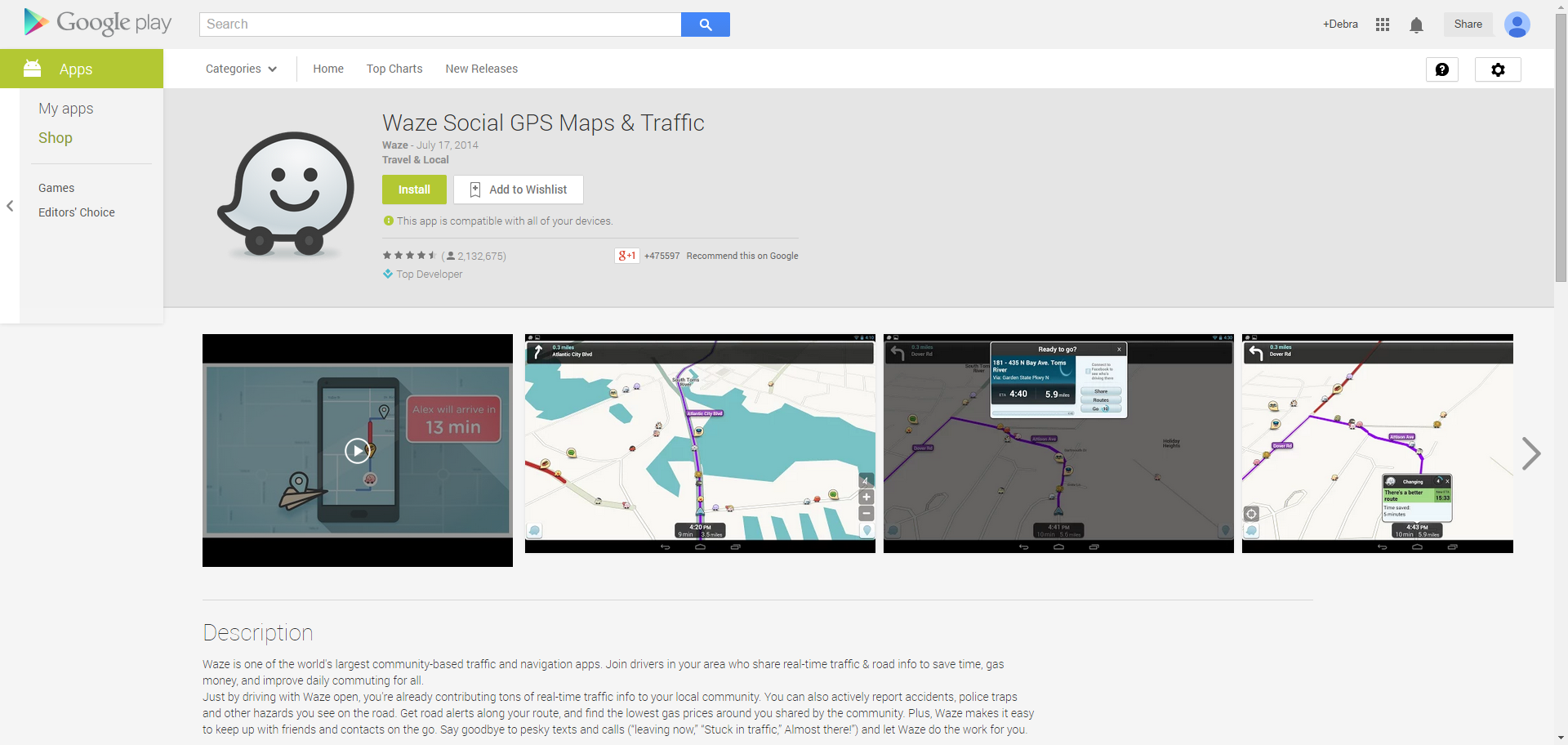 Waze Social GPS Maps | Android Apps | Maps traffic, Gps map