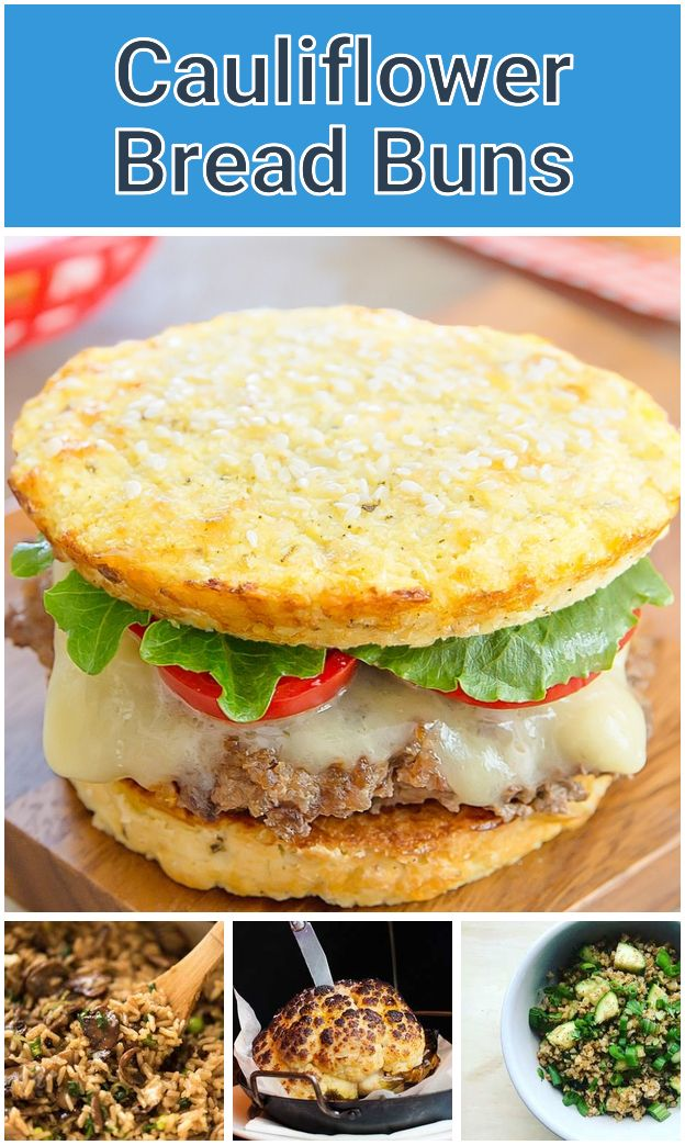 Cauliflower Bread Buns Low Carb And Gluten Free Replace Cheese