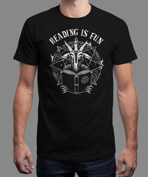 """Reading is Fun"" is today's £9/€11/$12 tee for 24 hours only on Pin this… 