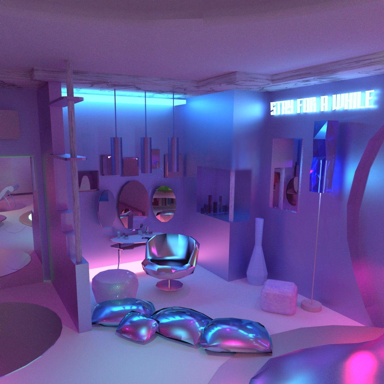 Hermoso | Habitación de neón, Diseños de dormitorio de ... on Room Decor Ideas De Cuartos Aesthetic id=63073