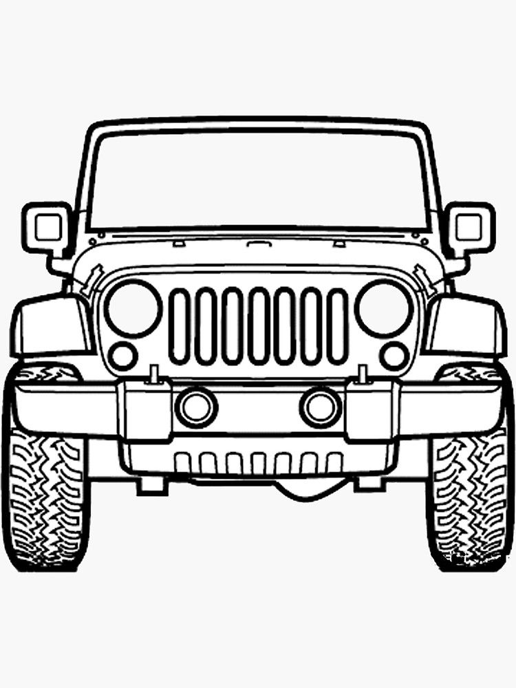 Jeep Sticker By Mims28 In 2021 Jeep Stickers Jeep Art Jeep Drawing
