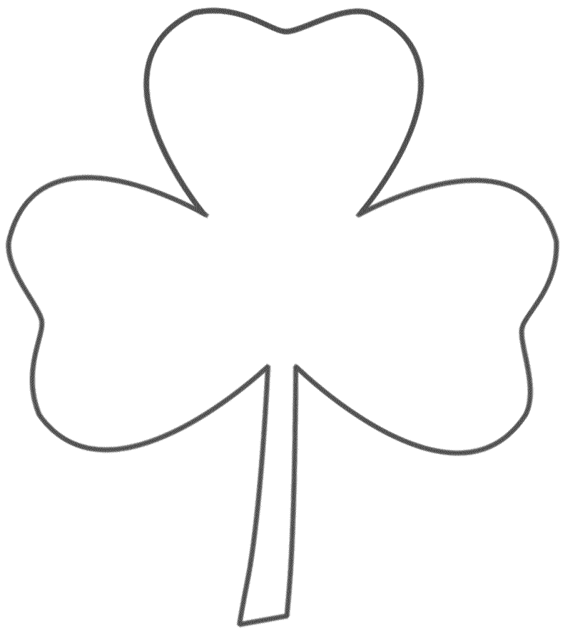 Three Leaf Clover Coloring Page St Patrick S Day Three Leaf Clover Coloring Pages To Print Clover Leaf