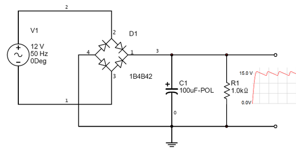 Schematic Diagram For A Full Wave Bridge Rectifier  4