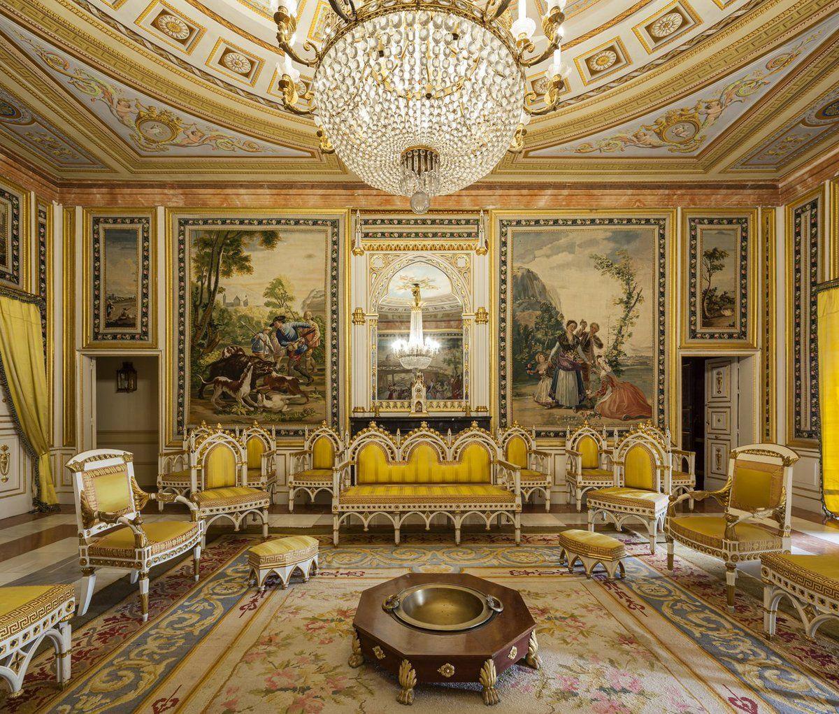 Sala De Audiencias Del Palacio De Los Borbones Del Real Sitio Del  # Muebles Guzman Naranjo