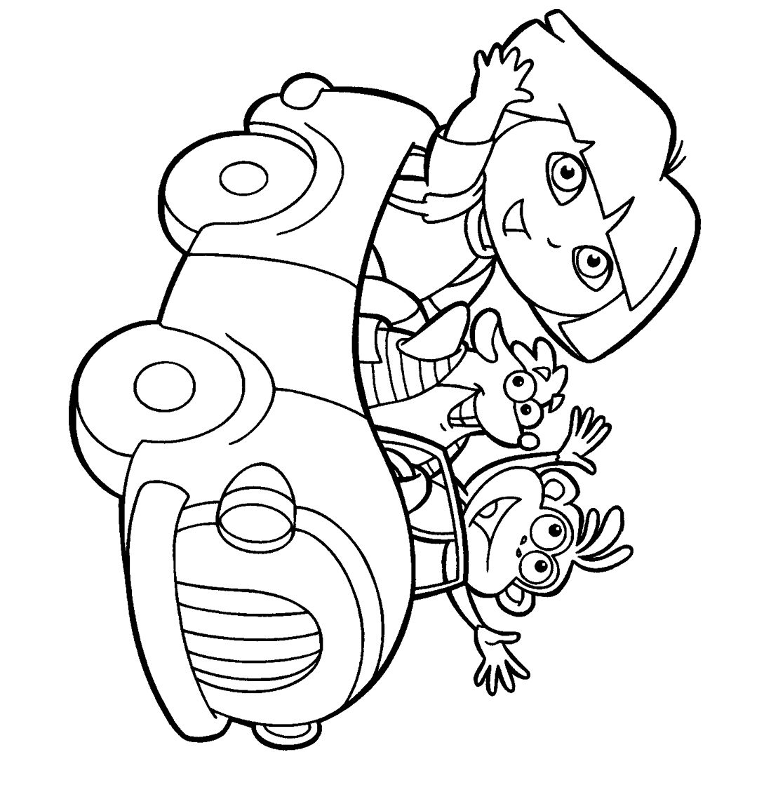 Colouring in pictures for toddlers - Dora Printable Coloring Pages For Kids Tsumtsumplush Com Place To Purchase Tsum Tsum Plush