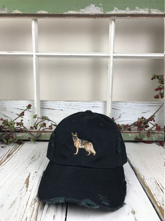 6a1ce99bdfb GERMAN SHEPARD Hat Distressed Baseball Cap Low Profile Dad Hats Dog Lover