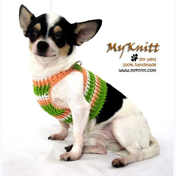 Adorable Pastel Dog Harness Pet Harnesses Puppy Vest By Myknitt