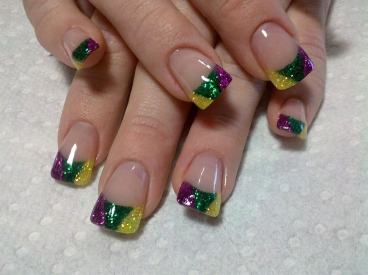 Pin by R S on Nails - Mardi Gras | Pinterest | Mardi gras