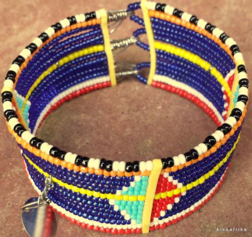 African-lady-fashion-2015-new-Masai-beaded-Bracelet-Moshi