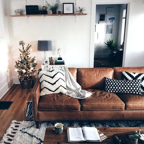 Image Result For Brown Leather Couch Decorating Ideas
