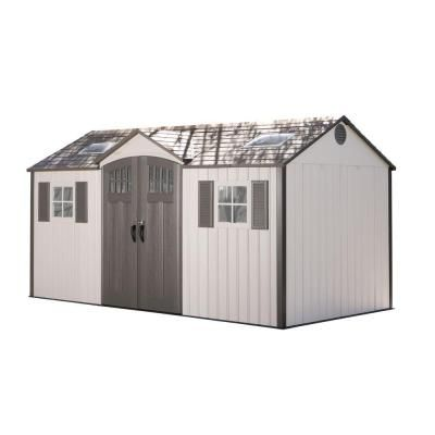 Lifetime 15 Ft X 8 Ft Garden Building Shed 60138 The Home Depot Building A Shed Wood Shed Plans Build A Shed Kit