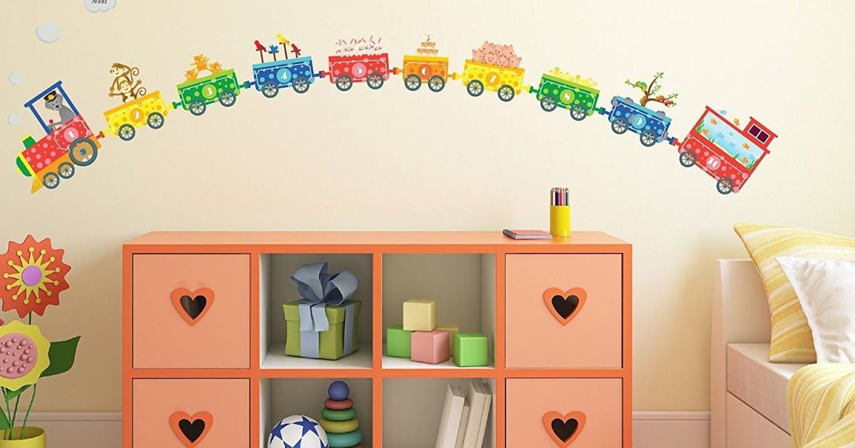 Amazon Com Numbers Pet Train Wall Decals Fun And 30 Kitchen Wall