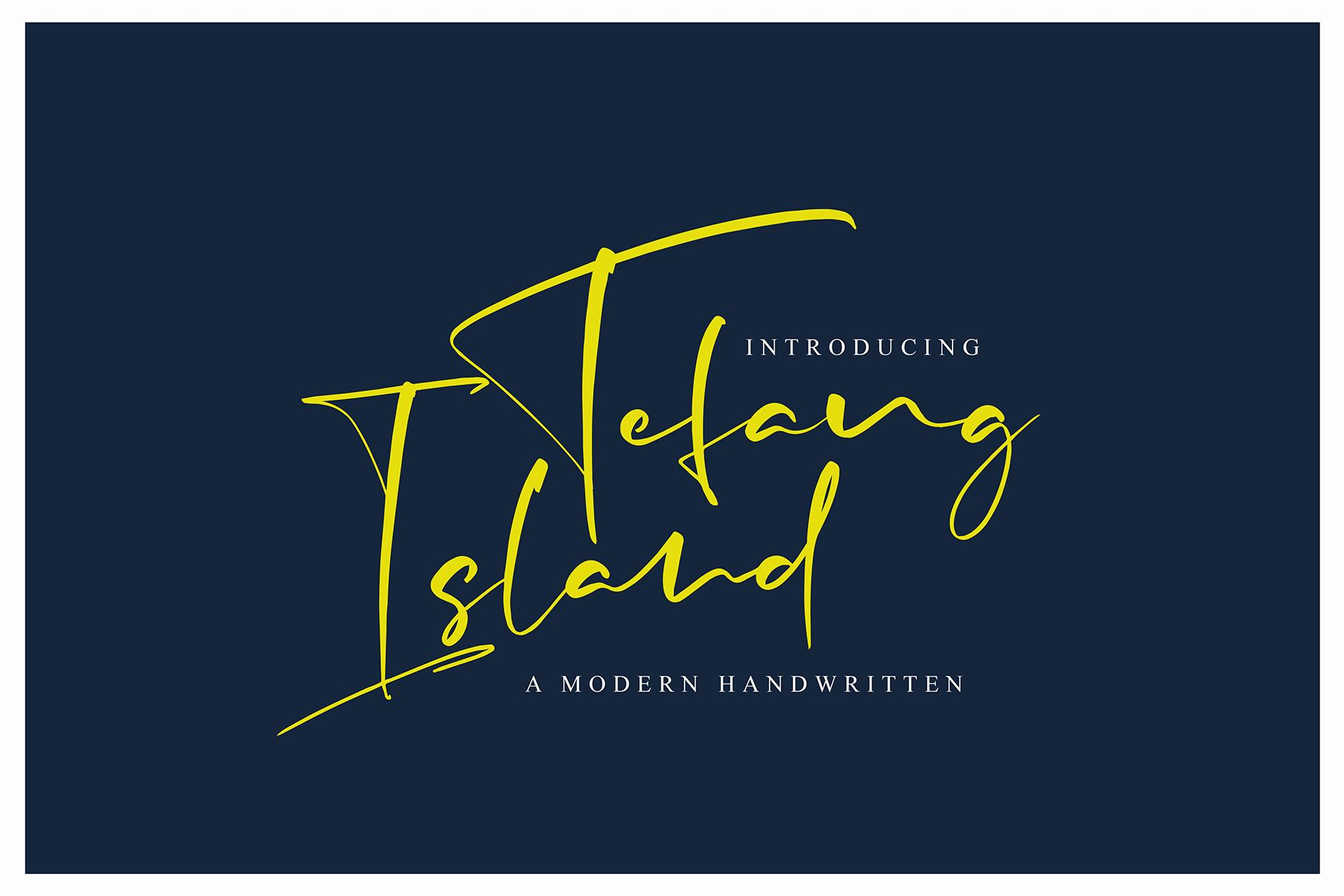 Tefang Island Pretty Fonts Handwritten Fonts Beautiful Fonts