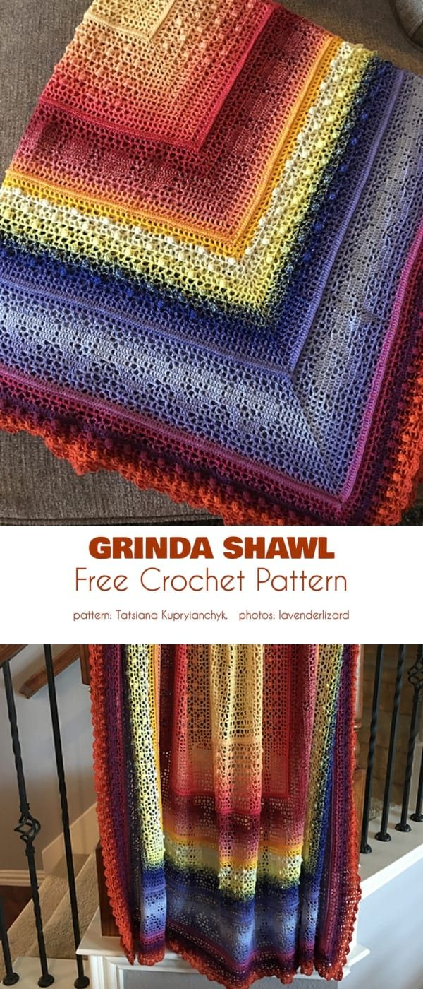 Photo of Variasjon av Grinda Shawl Free Crochet Pattern
