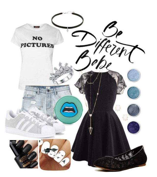 """""""Be Different"""" by shybabyangel on Polyvore featuring Topshop, RVCA, Yazbukey, adidas, Lucky Brand, Terre Mère, House of Harlow 1960 and Kendra Scott"""