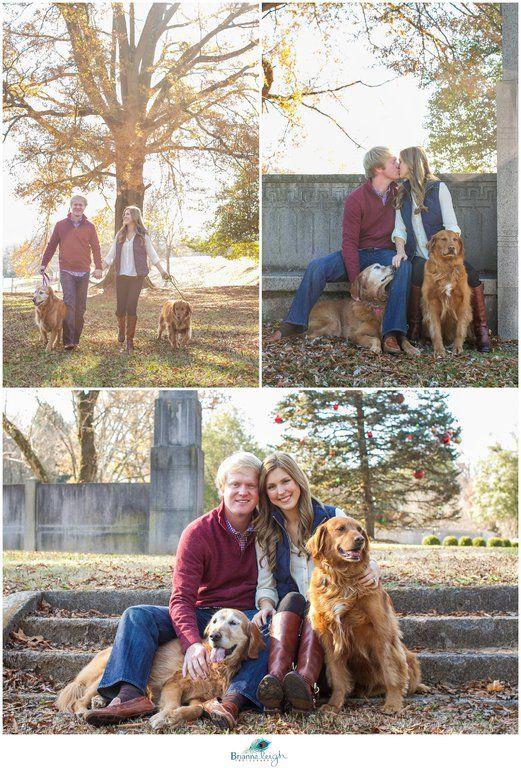 Knoxville TN Family Photography Photographer Portrait Session With Dogs Golden Retriever Fall Couple